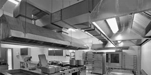 Системы вытяжки дыма в кухнях